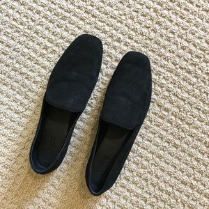 new Clark Square Toe suede leather Loafer flats 7